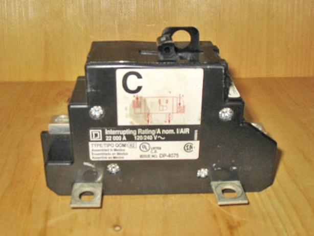 SQUARE D 'Type QOM1' 100 Amp, 2 Pole, 240 Volt 'Main' Circuit Breaker ~ Mint!