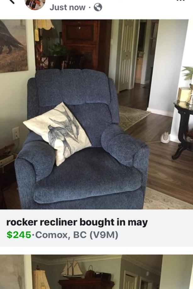as new reclining/rocking chair