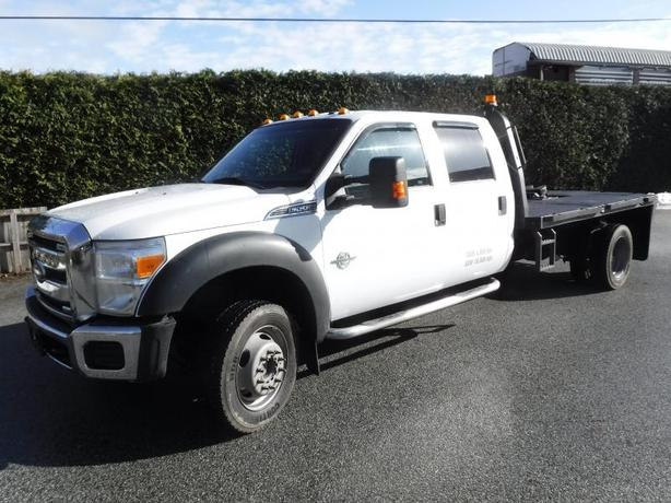 2014 Ford F-550 Crew Cab Dually 4WD 12ft Flat Deck Diesel