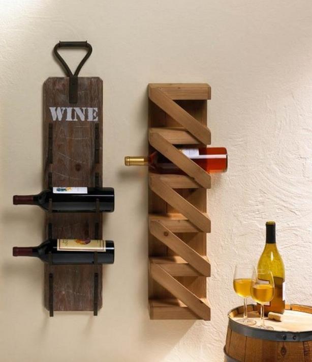 Wine Bottle Holder Rack Wall-Mount 3 Styles Choice Brand New Wood