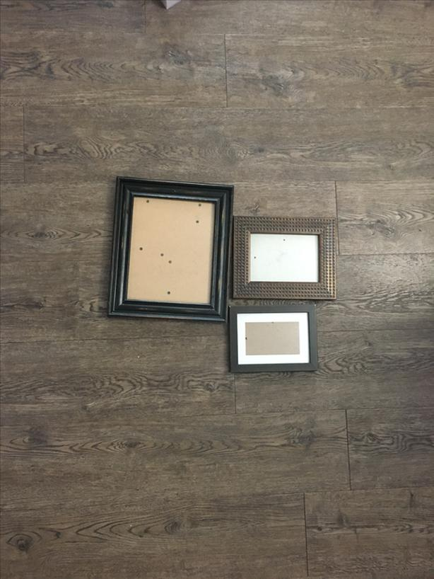 Set of 3 Wood Picture Frames