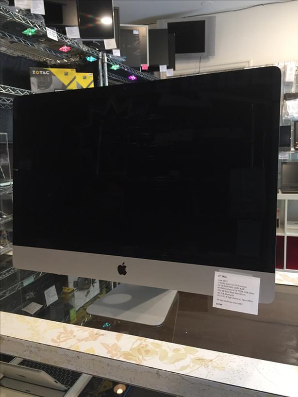 "SALE! 27"" iMac 3.4GHz i5 16GB RAM 256GB SSD GTX 775M 2GB Video w/ Warranty!"
