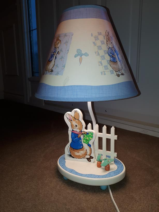 PETER RABBIT Wooden Night Light Table Lamp