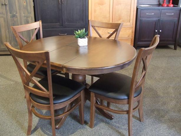 "Solid Wood 35.5"" Oval Dining Table & 4 Chairs - 10% Off"