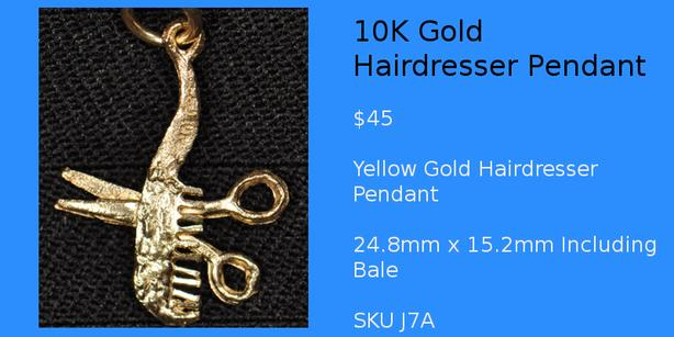 Gold Silver Guy Hairdresser Pendants