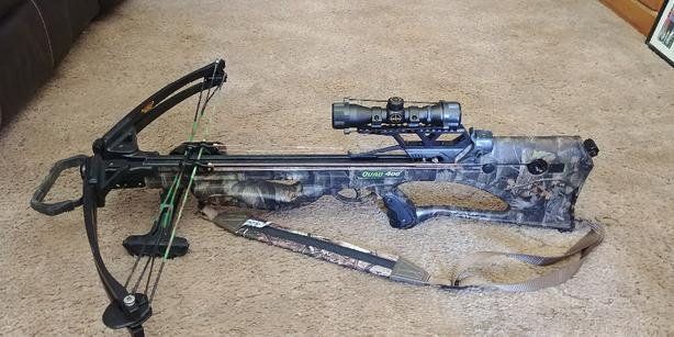 Barnett crossbow and Hunting gear