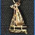 Gold Silver Guy Sailboat Pendants