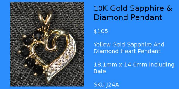 Gold Silver Guy Sapphire Pendants