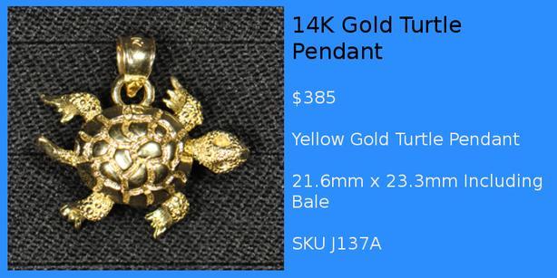 Gold Silver Guy Sea Life 2 Pendants