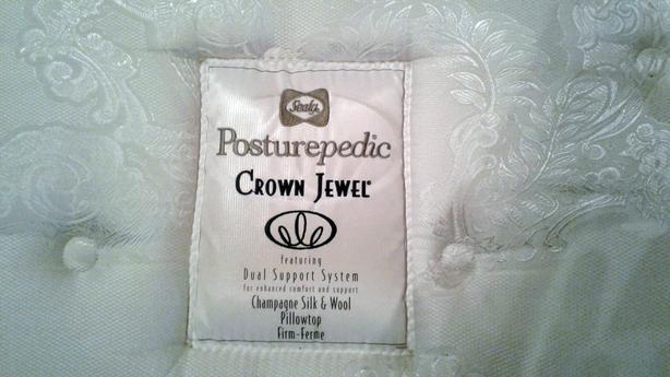 Sealy Posturepedic Crown Jewel King Size Mattress Plus 2 Box Springs