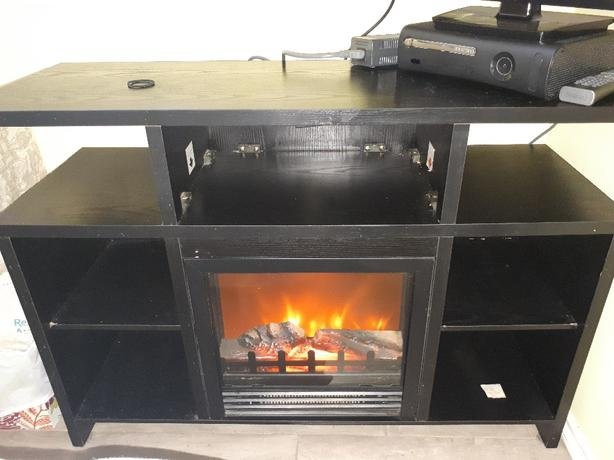 fireplace/heater/TV stand