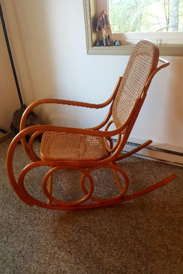 Rattan rocking chair lounger