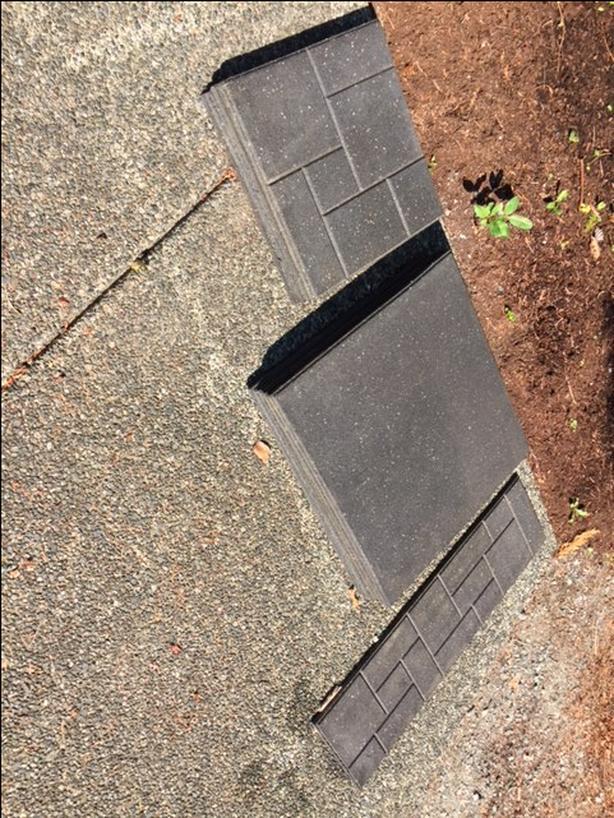 heavy rubber outdoor tiles
