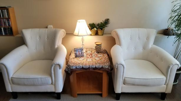 White Accent Chairs Used.Log In Needed 450 Accent Chairs