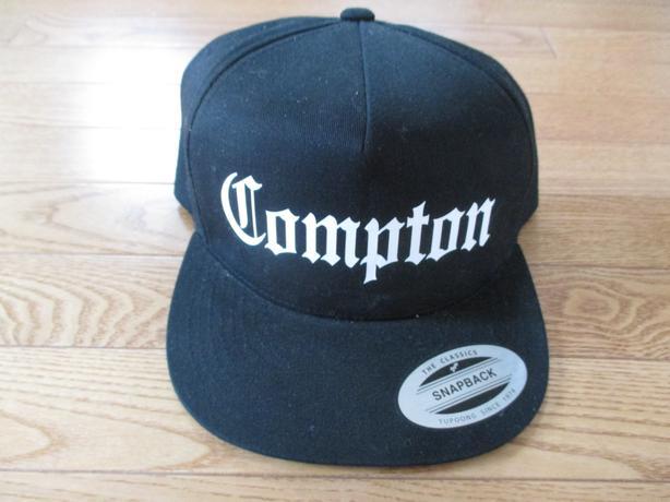 Black 'Compton' Adjustable Cap