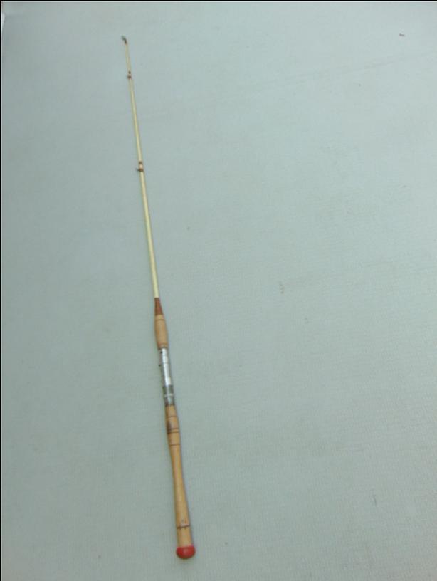 Log In Needed 12 Fishing Adventures 55 Feet Vintage Old Fishing Rod Wood Handle