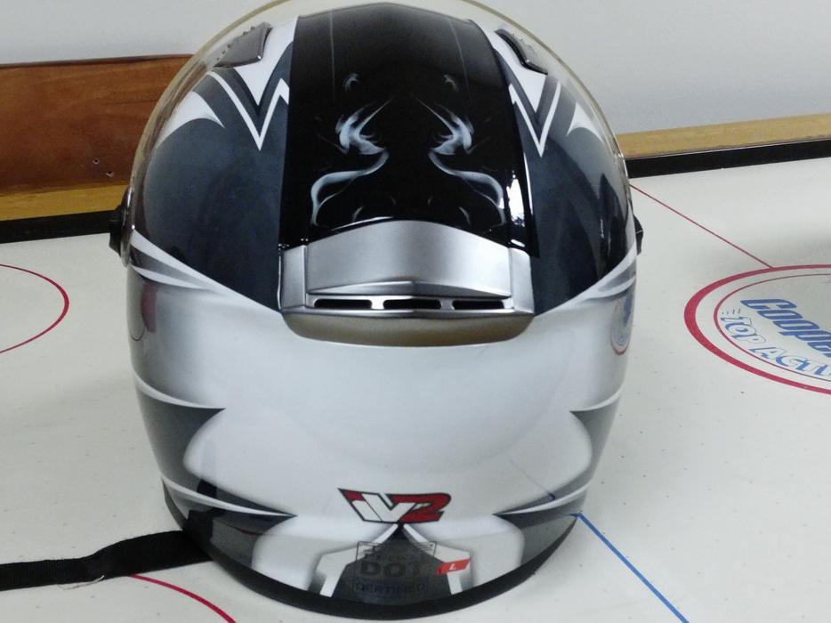 97592781 Mega Z Black White Dual Visor Full Face Motorcycle Helmet Large West Shore:  Langford,Colwood,Metchosin,Highlands, Victoria