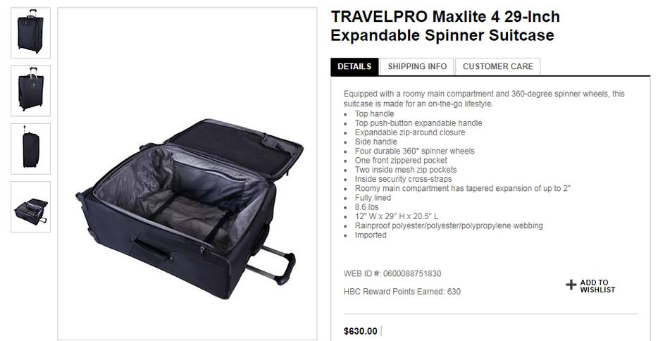 d01782cb9 TRAVELPRO Maxlite 4 29-Inch Expandable Spinner Suitcase Victoria City,  Victoria