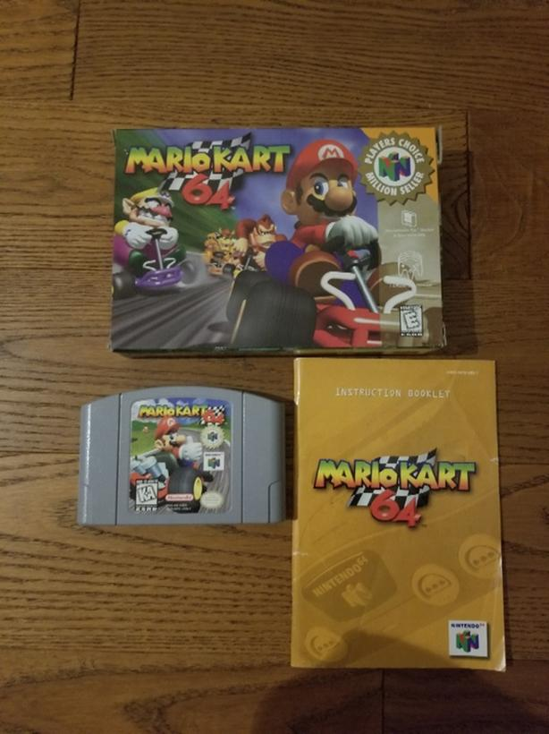 Mario Kart 64 With Original Box And Manual Nintendo Game Saanich