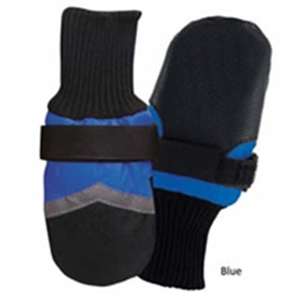 New Guardian Winter Fleece Lined Dog Boots - Blue Small Size