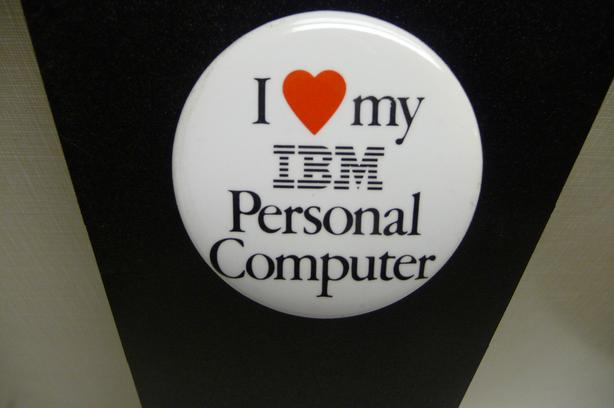 Vintage IBM Promo Pin back Button