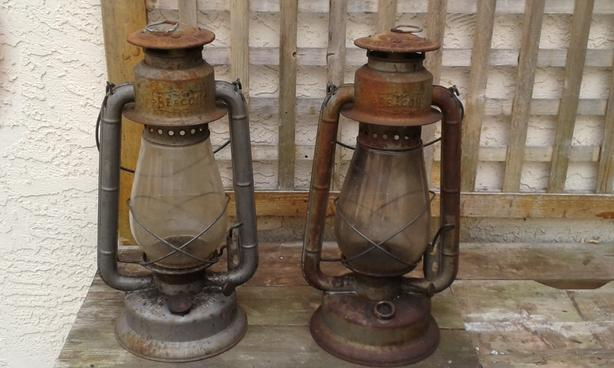 Price Reduced Vintage BEACON Oil Lamps