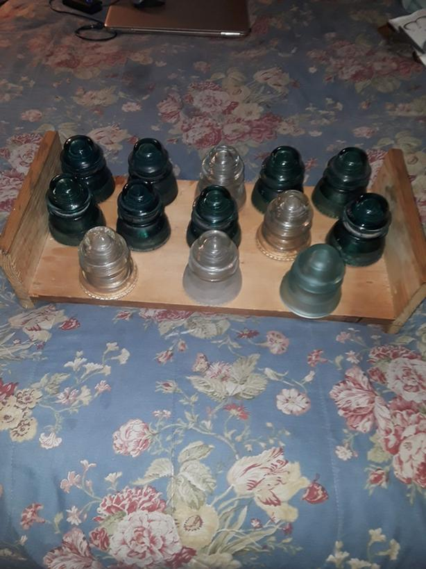 Collectible glass insulators