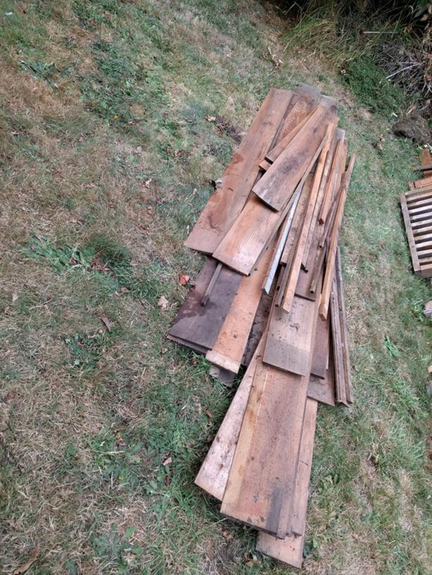 Free Assorted Cedar Siding Boards And Scrap Lumber