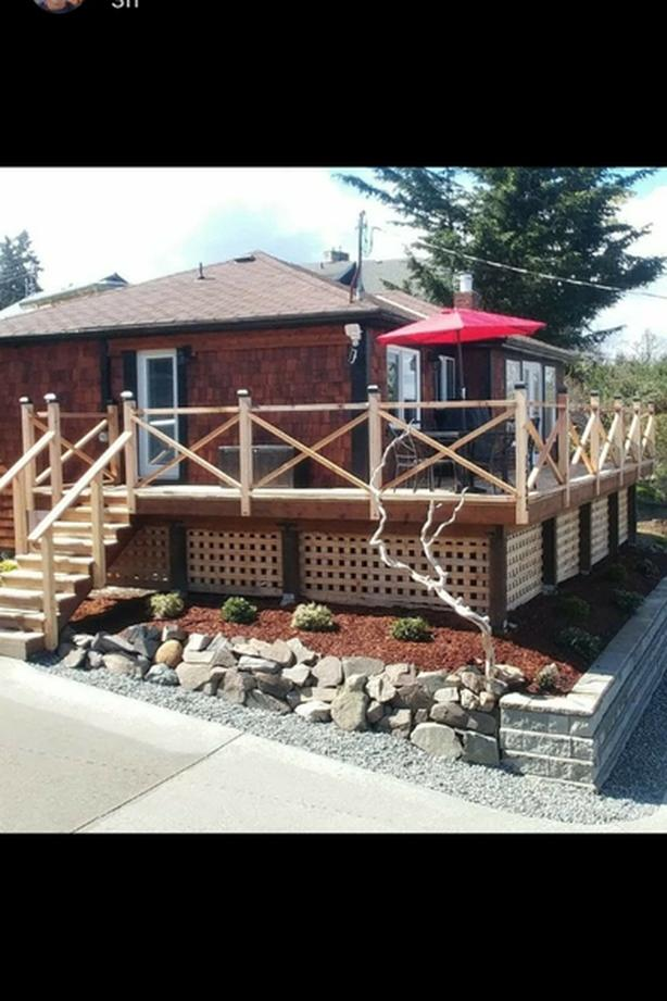 ocean view cottage in historical Cowichan Bay