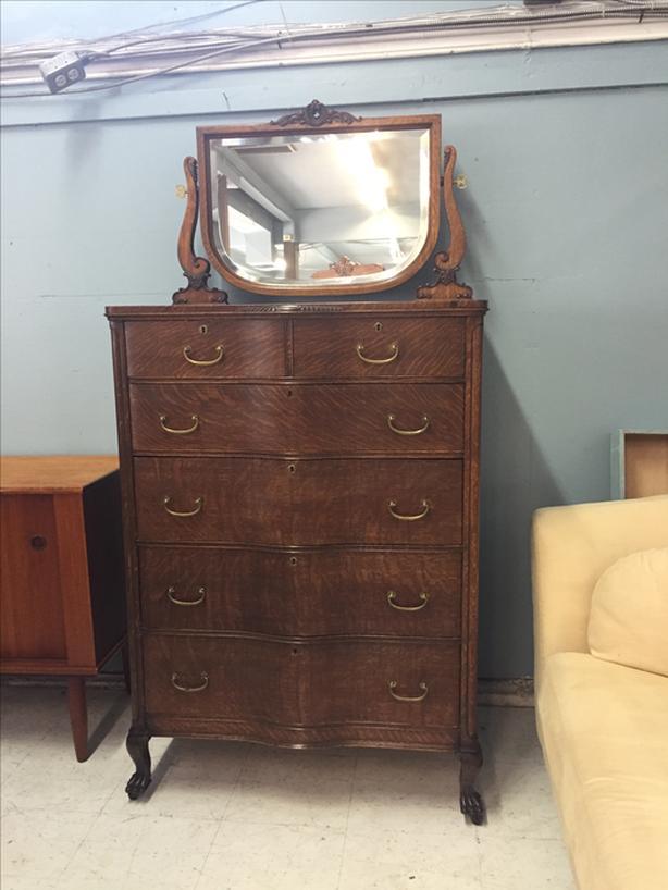 Antique Tiger Oak Dresser Saanich Victoria