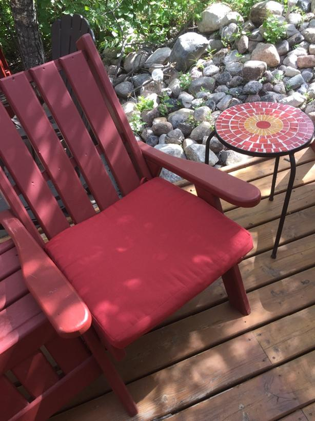 8 Red Patio Chair Cushions Back And Seat South Regina Regina