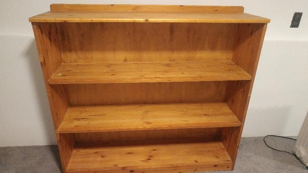 Solid Knotty Pine Bookcase