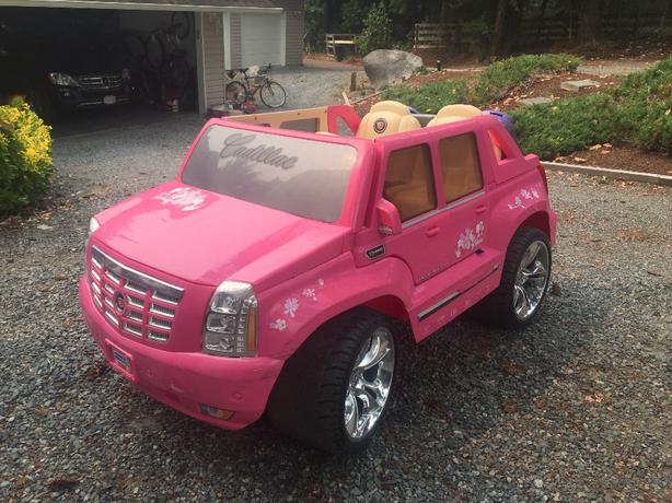 power wheels barbie cadillac escalade north nanaimo nanaimo mobile 275 power wheels barbie cadillac escalade