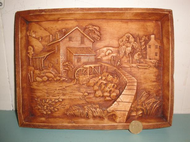 Beautiful Homestead Wall Hanging - Solid Wood Carving