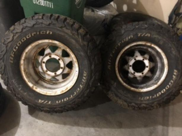 NEW.  4x4 all terrain tires with or with out rims