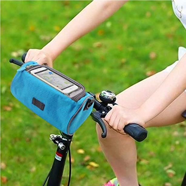 Bicycle Bike Front Handlebar Pouch Phone Bag - 3L - Blue