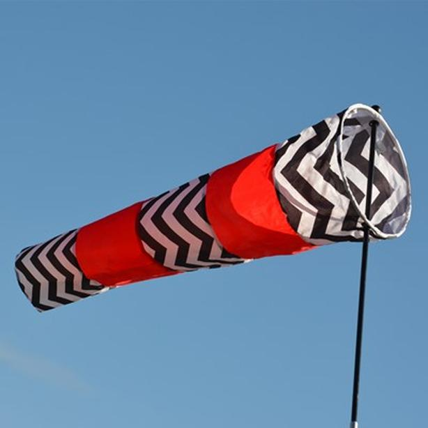 Directional Windsock - Red & Black