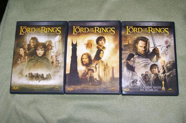 Lord Of The Rings: Fellowship of the Ring, Two Towers and Return of the king