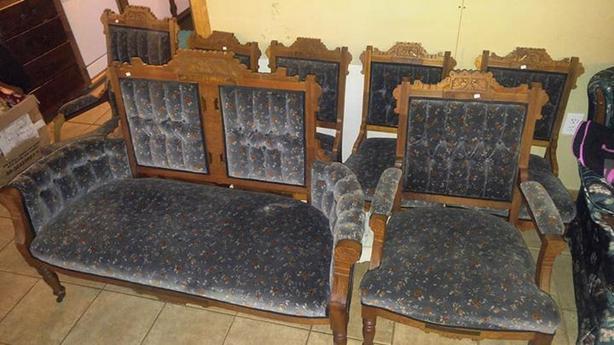 victorian furniture set 7 pcs