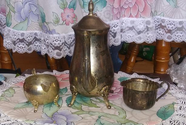 tea set of some kind with some other acceries