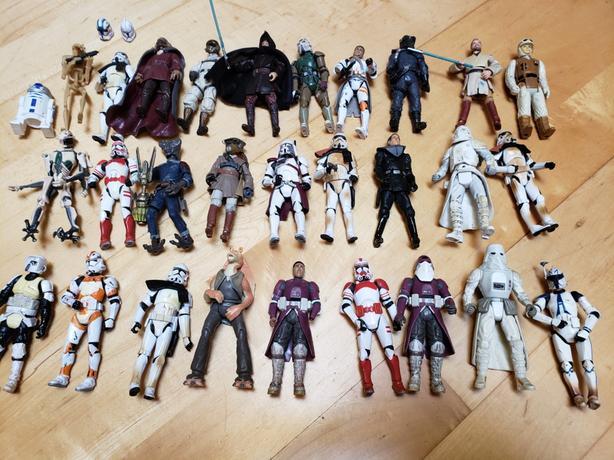 Star wars figures.