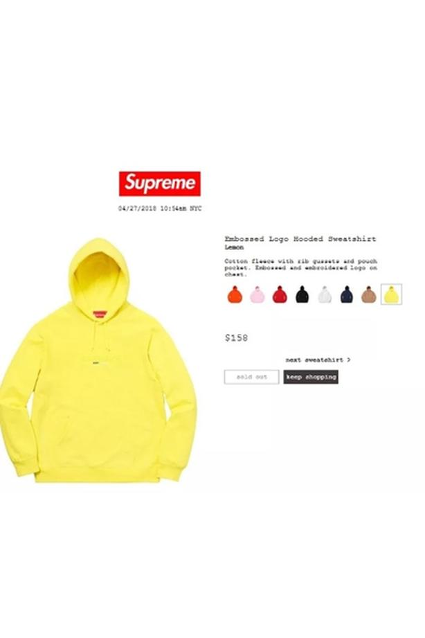 88524a8a7209 Supreme SS18 Embossed Logo Hooded Sweatshirt Victoria City