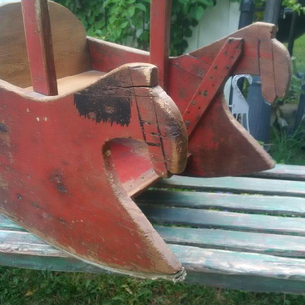 Rare Horse Rocking Chair