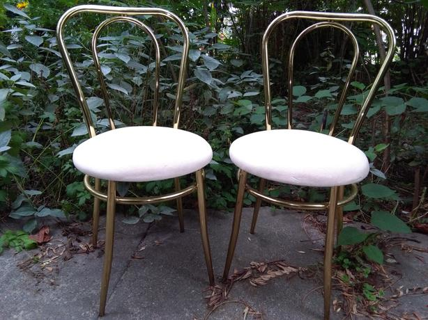 SOLD*Vintage Bistro bentwood style metal dining chairs for back to school