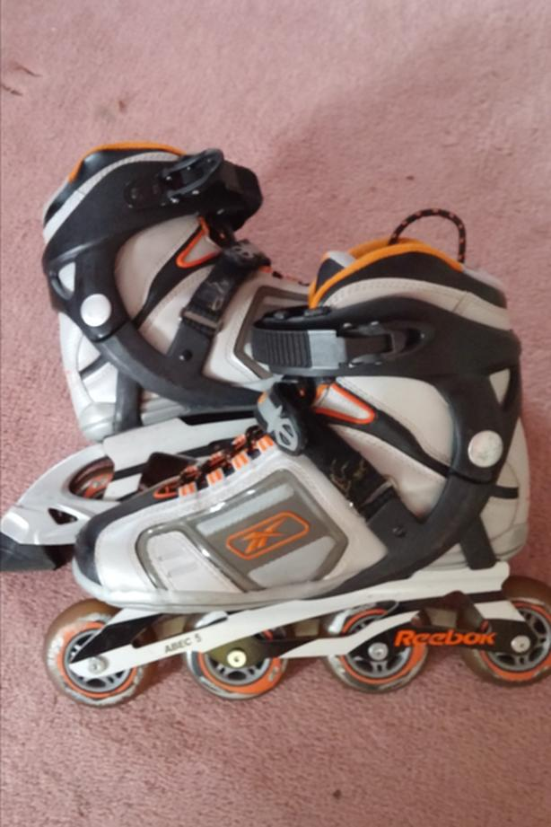 "Reebok ""Robic 8"" inline skates."