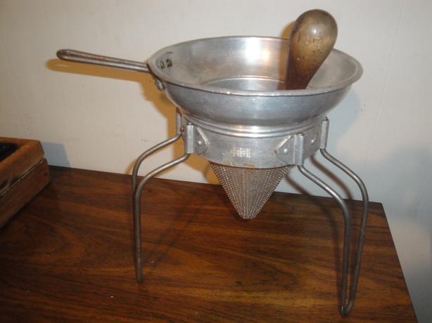 Vintage Aluminum Pestle (Strainer / Masher / Grinder / Colander / Sieve)