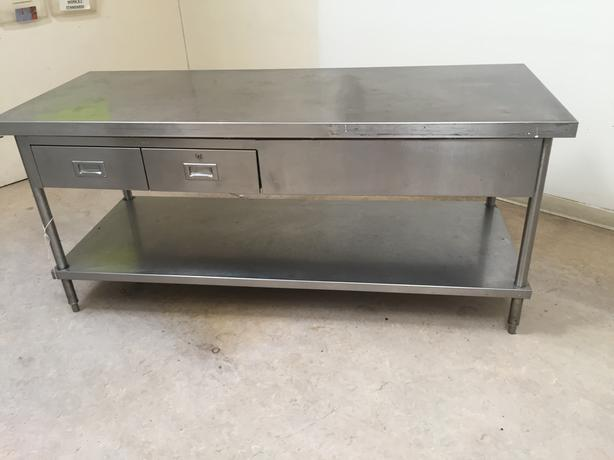 Foot Stainless Steel Tables With Double Sided Drawers Malahat - 7 foot stainless steel table