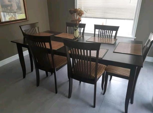 Birch Ebony Kitchen Table and Chairs