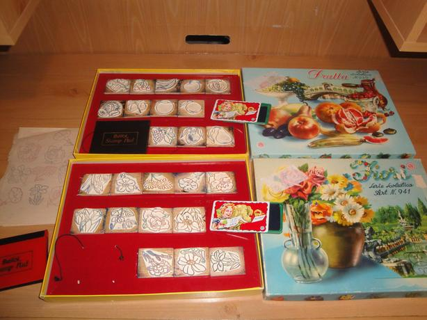 "Quaint Vintage Italian Stamp Sets ""Frutta"" & ""Fiori"", Multiprint Milano (1960)"
