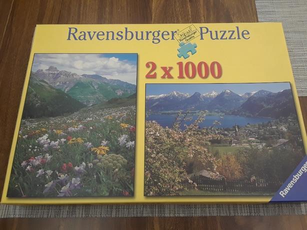 1000 piece x 2 Ravensburger puzzles